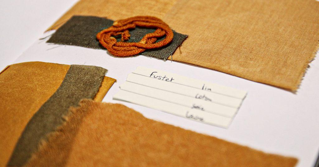 teinture végétale naturelle fustet lin coton soie laine