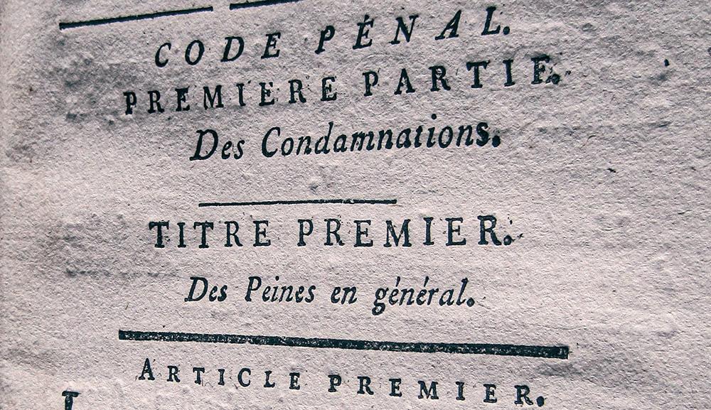 code pénal première partie