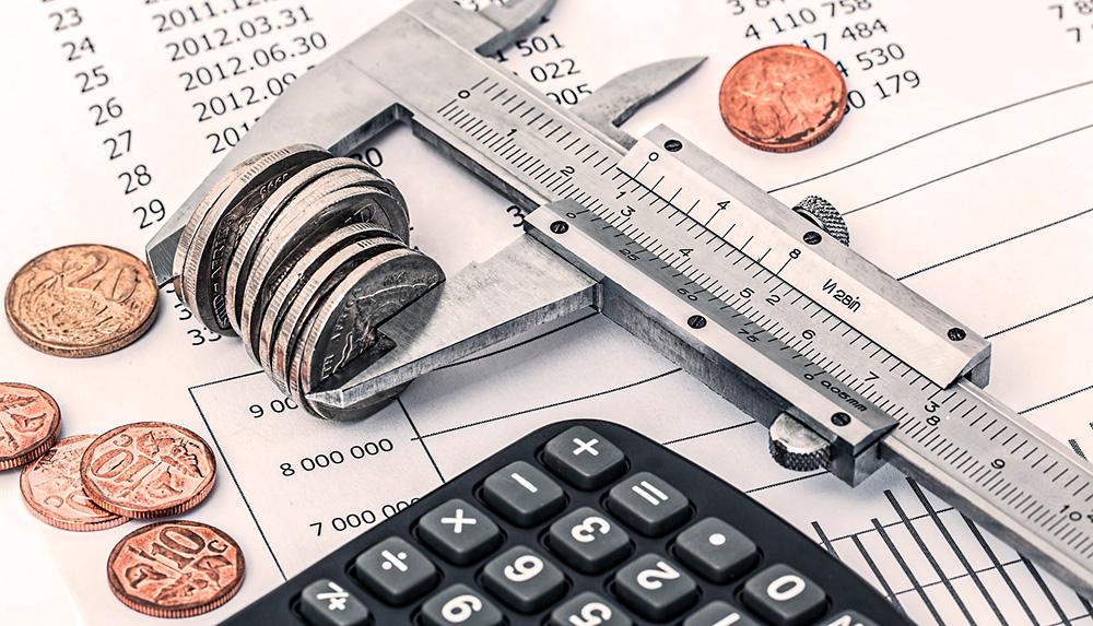 crise économique calculatrice argent