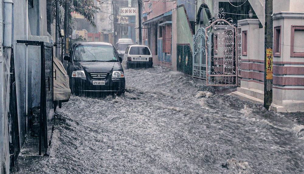 inondation eau village