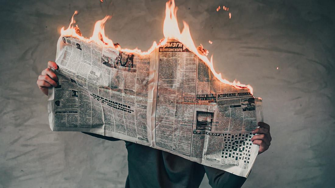 journal d'actualités qui prend feu
