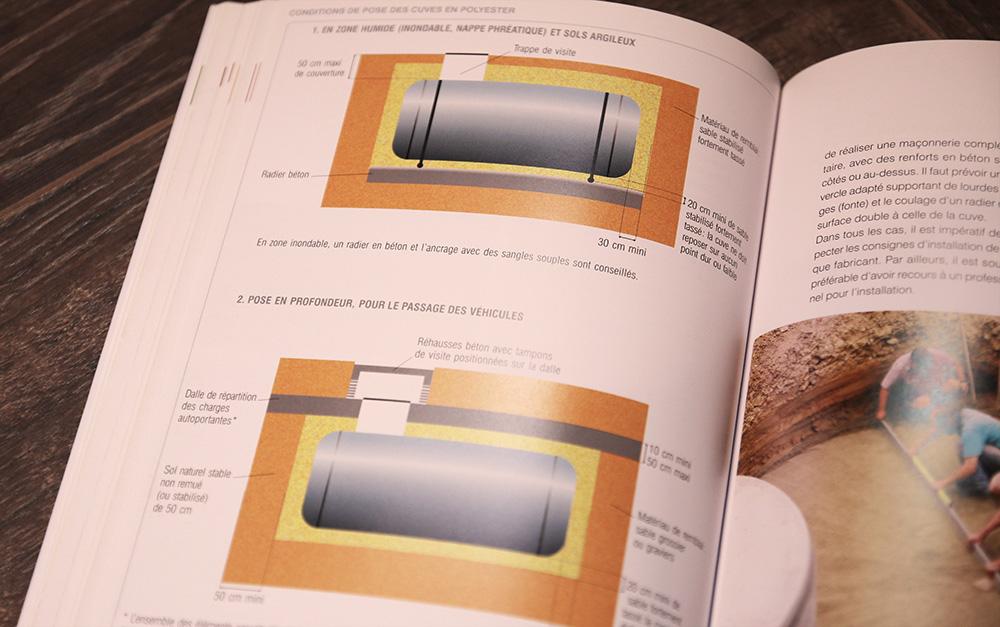 pose cuve eau pluie récupération polyester