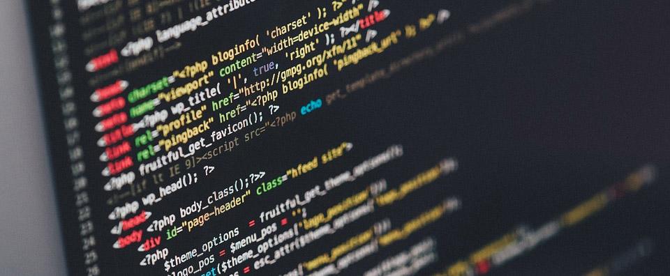 écran d'ordinateur, programmation