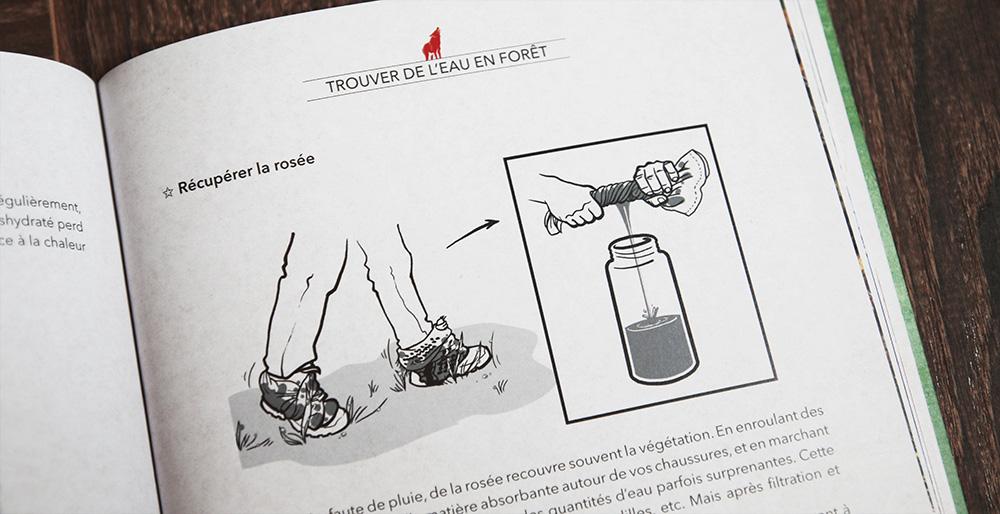 récupérer rosée eau hydratation survie
