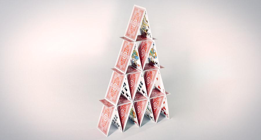 un château de cartes