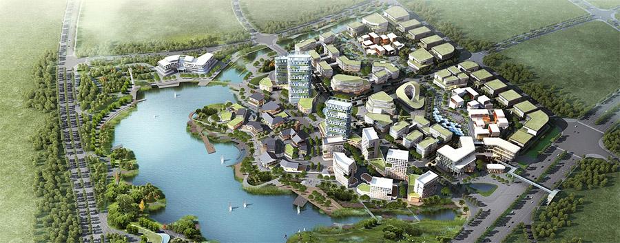 Une ville écologique imaginaire en 3d